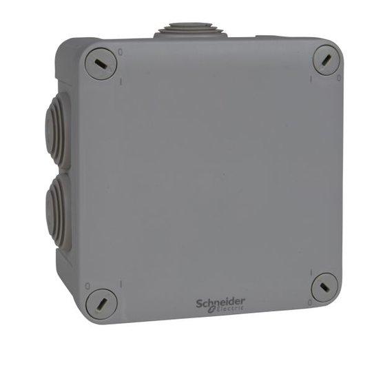 Schneider Electric ENN05005 Kytkentärasia harmaa, ruuvikansi 105x105x55 mm