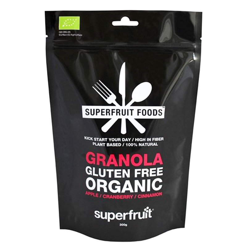 "Eko Granola ""Apple, Cranberry & Cinnamon"" 300g - 59% rabatt"