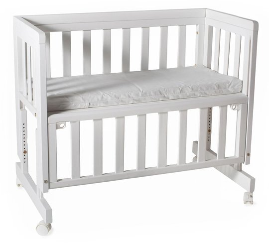 Troll Bedside Crib Two 40x89, Hvit