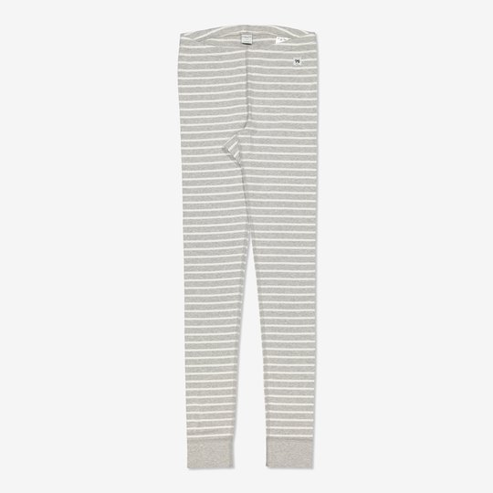 Stripet bukse voksen gråmelange