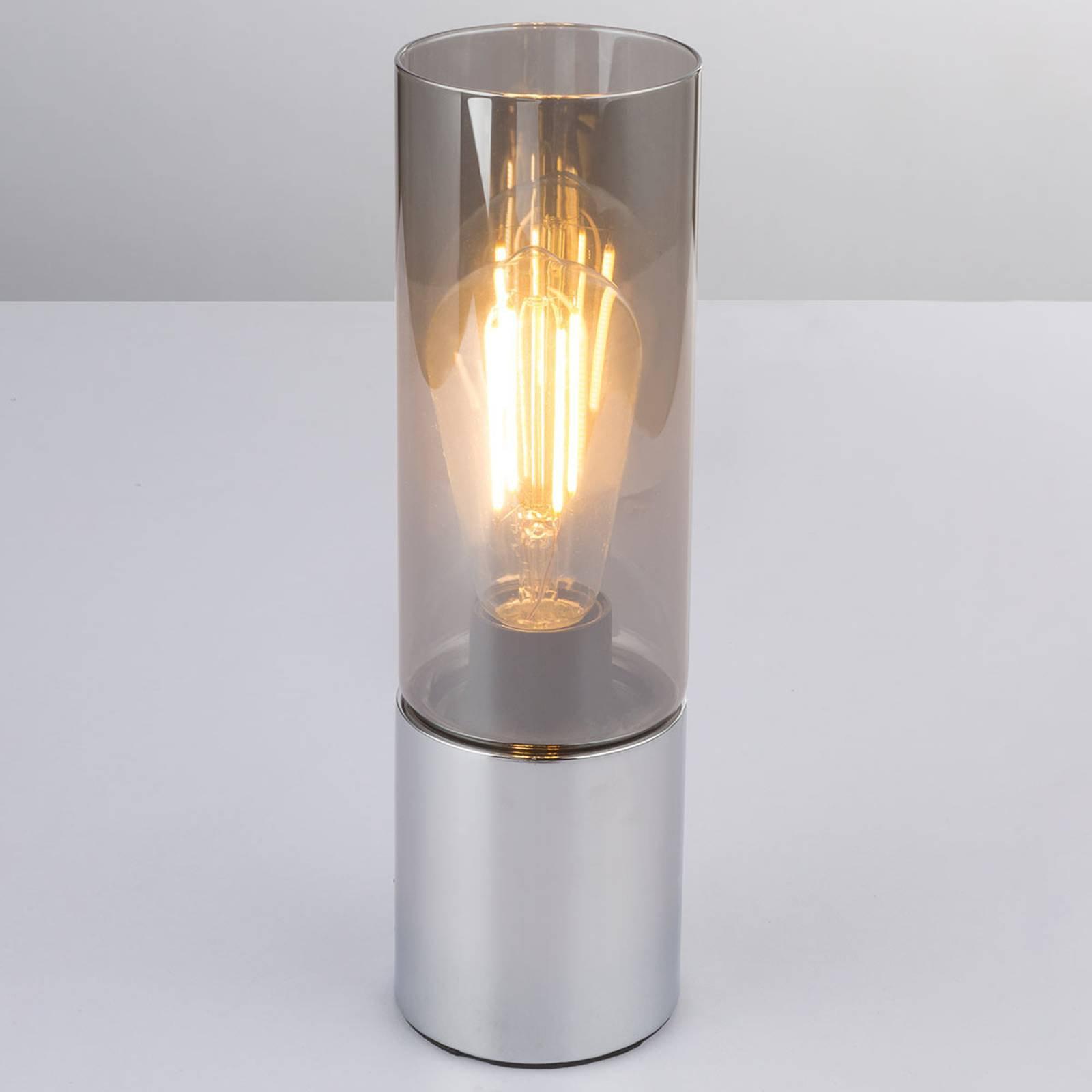 Bordlampe Annika med røykgråe glasskjermer