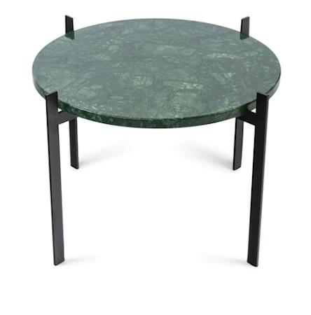 Single deck sofabord – Green/black