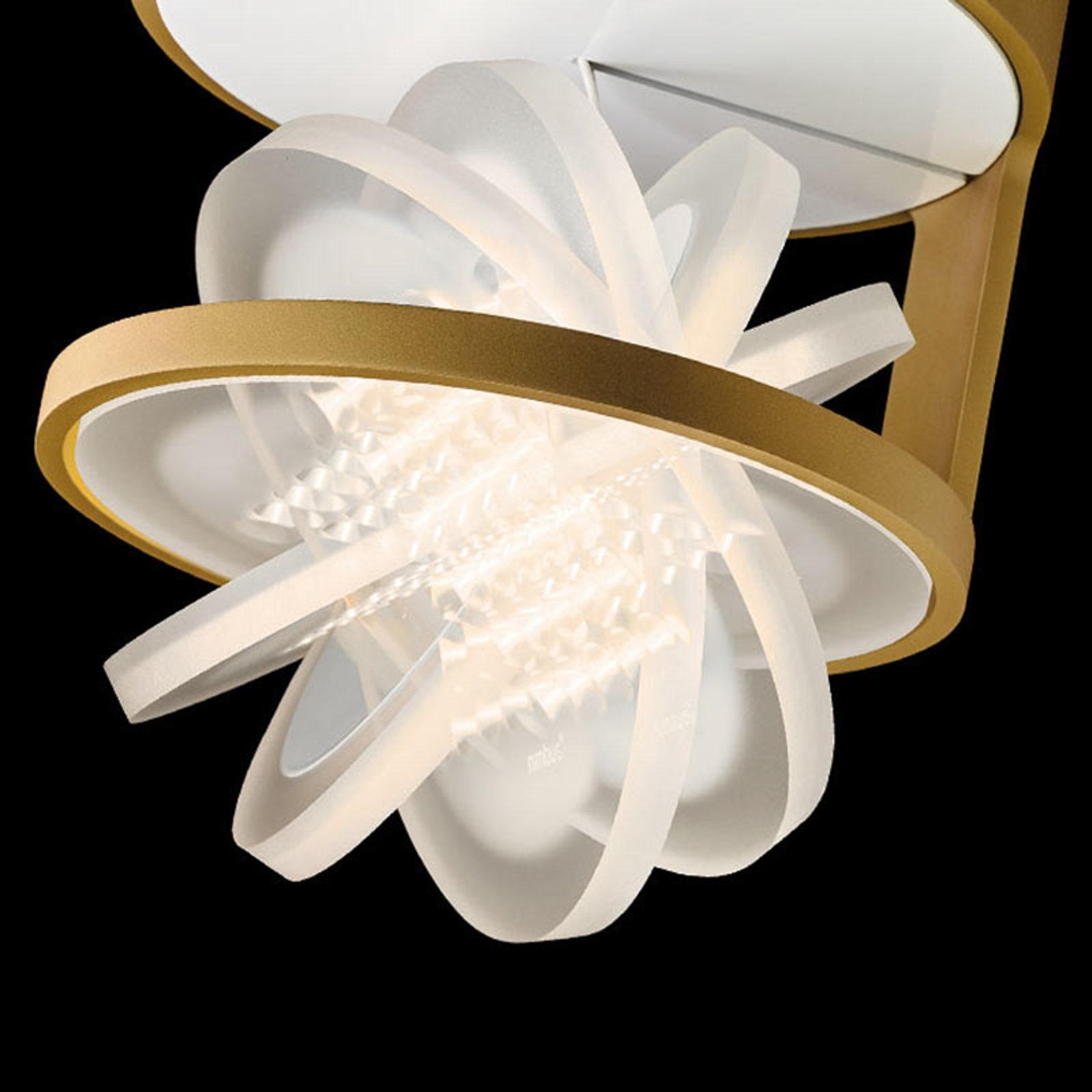 Nimbus Rim R 36 LED-taklampe, matt gull
