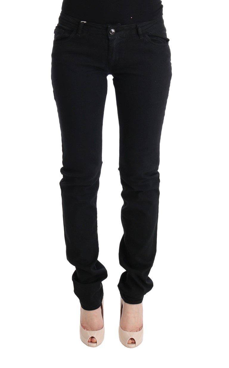 Cavalli Women's Cotton Slim Fit Low Waist Jeans Black SIG32426 - W24