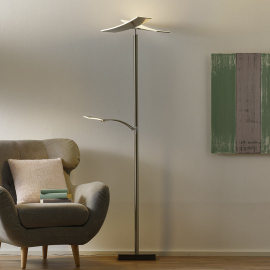 Duo-LED-lattiavalaisin lukuvarrella ja himment.