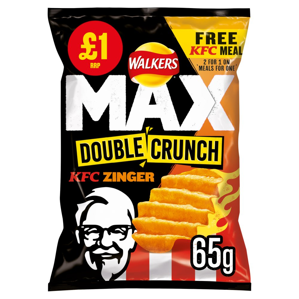 Walkers Max Double Crunch KFC Zinger Chips 65g
