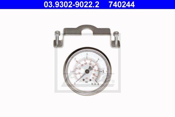 Painemittari, täyttö-/ilmauslaite (jarrut) ATE 03.9302-9022.2