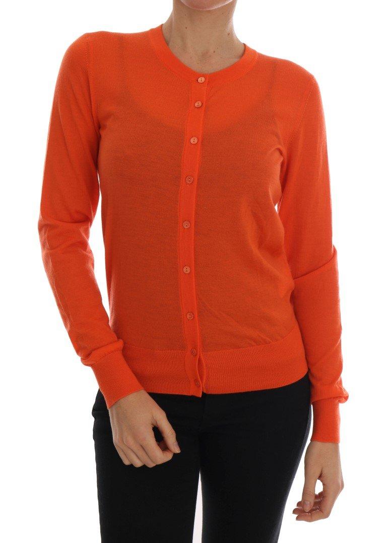 Dolce & Gabbana Women's Cashmere Cardigan Orange TSH1758 - IT40|S