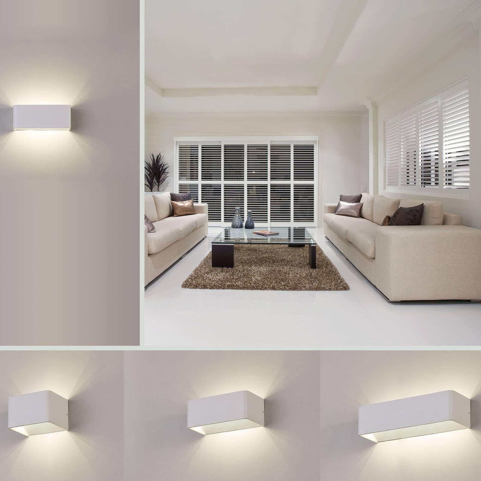 LED-vegglampe Icon, 2 700 K, bredde 37 cm
