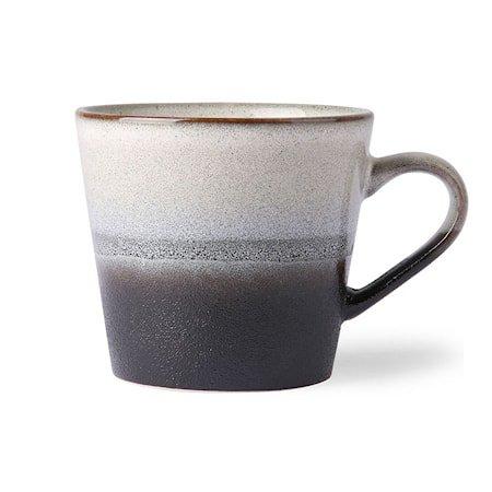 70's Kaffekopp Svart og Hvit 30 cl