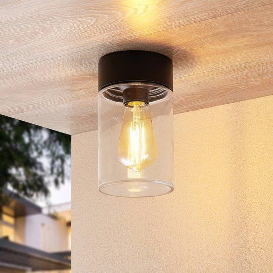 Arcchio Liljana utendørs taklampe, IP65, svart