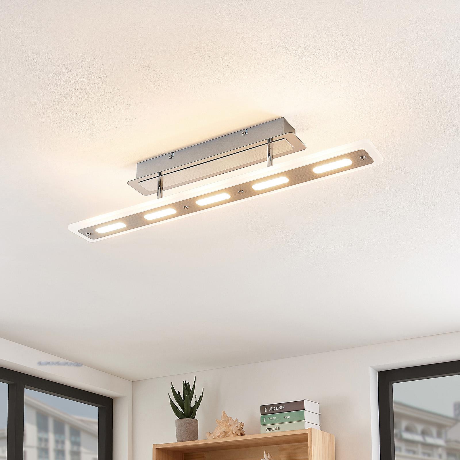 Lindby Lavea -LED-kattovalaisin kromia