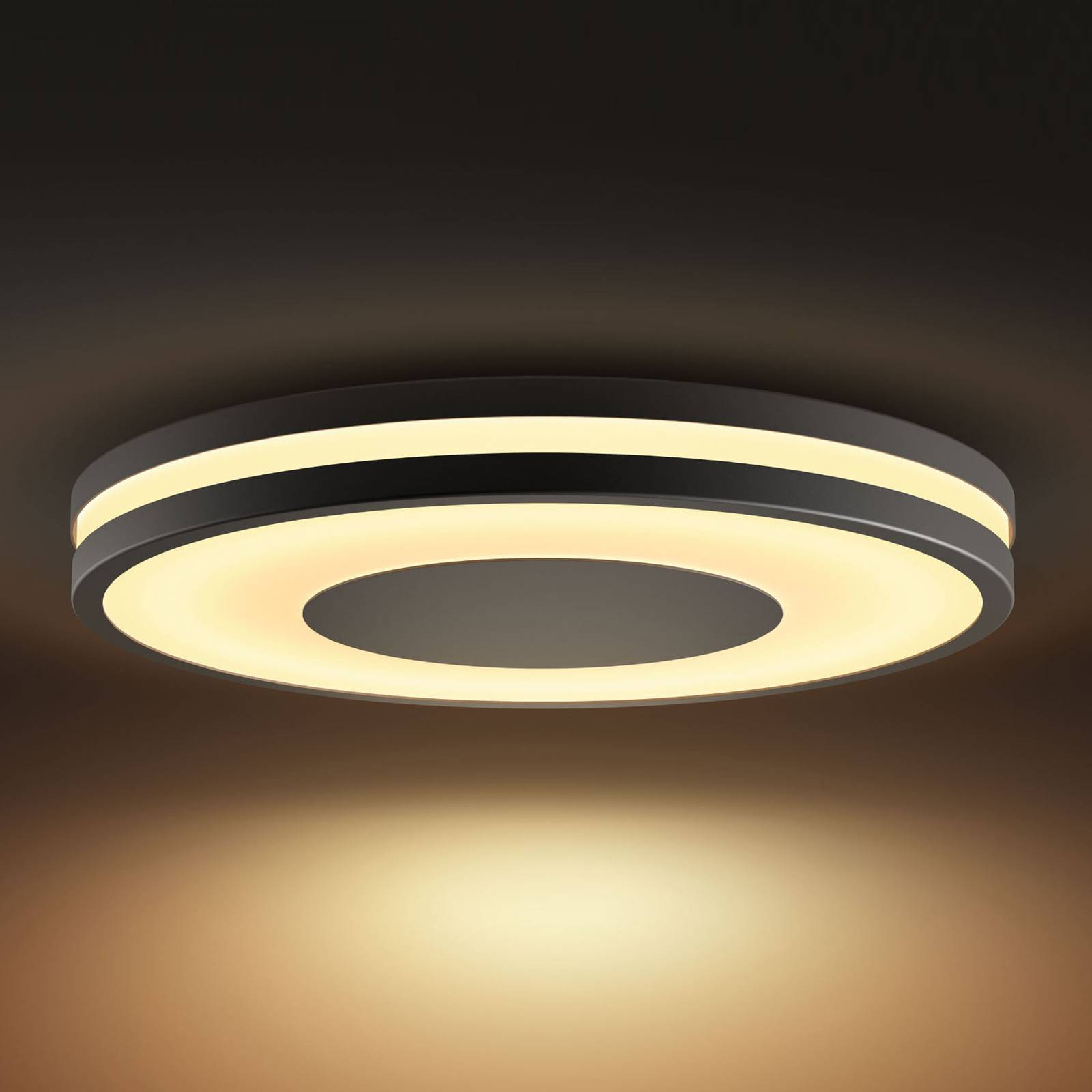 Philips Hue White Ambiance Being -kattovalo, musta