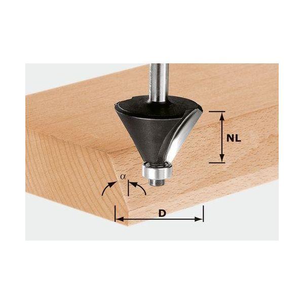Festool HW S12 D55/20/45° Viisteytysjyrsin kara 12 mm