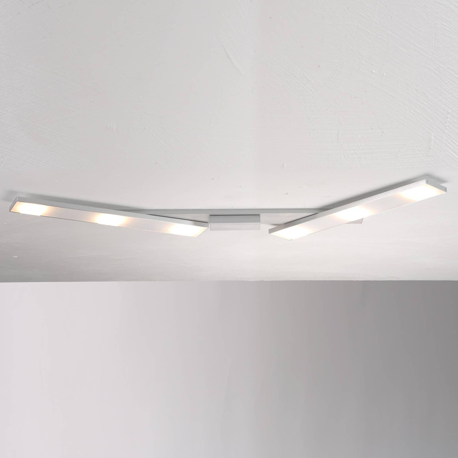 Svingbar LED-taklampe Slight, aluminium