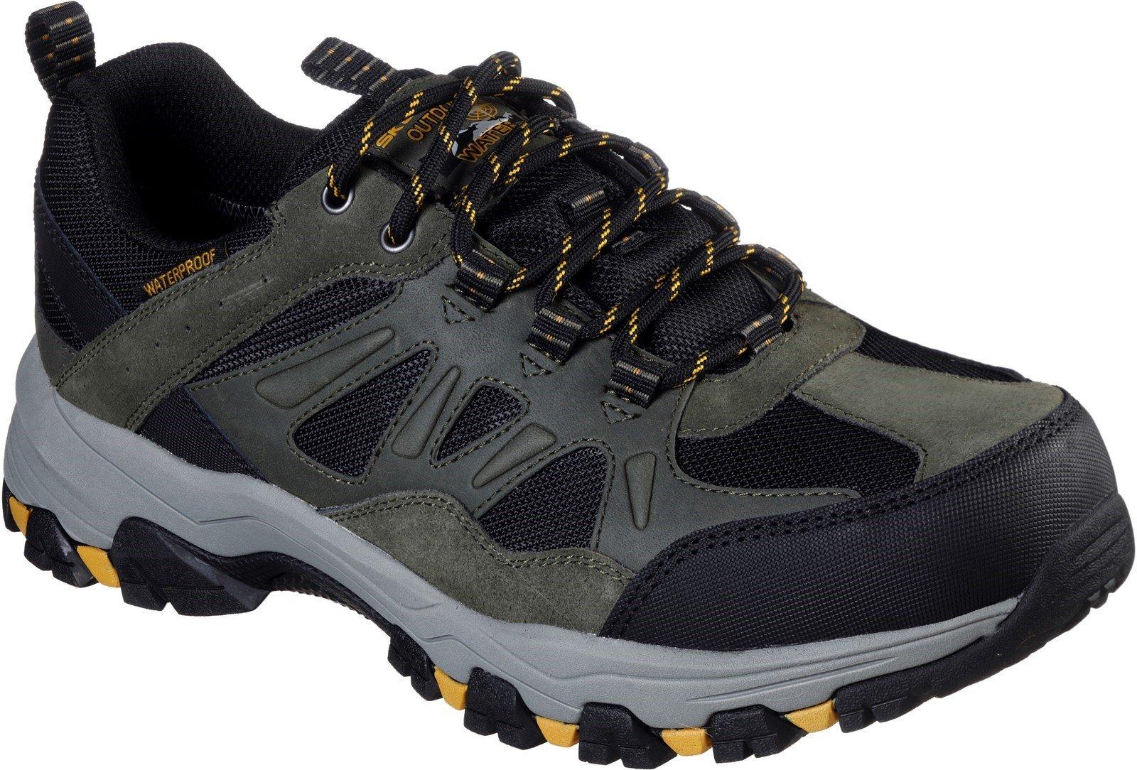 Skechers Men's Selmen Enago Lace Trainer Various Colours 31110 - Olive/Black 6