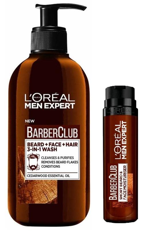 L'Oréal - Men Expert Barber Club Beard and Face Moisturizer 50 ml + Beard and Face Wash 200 ml