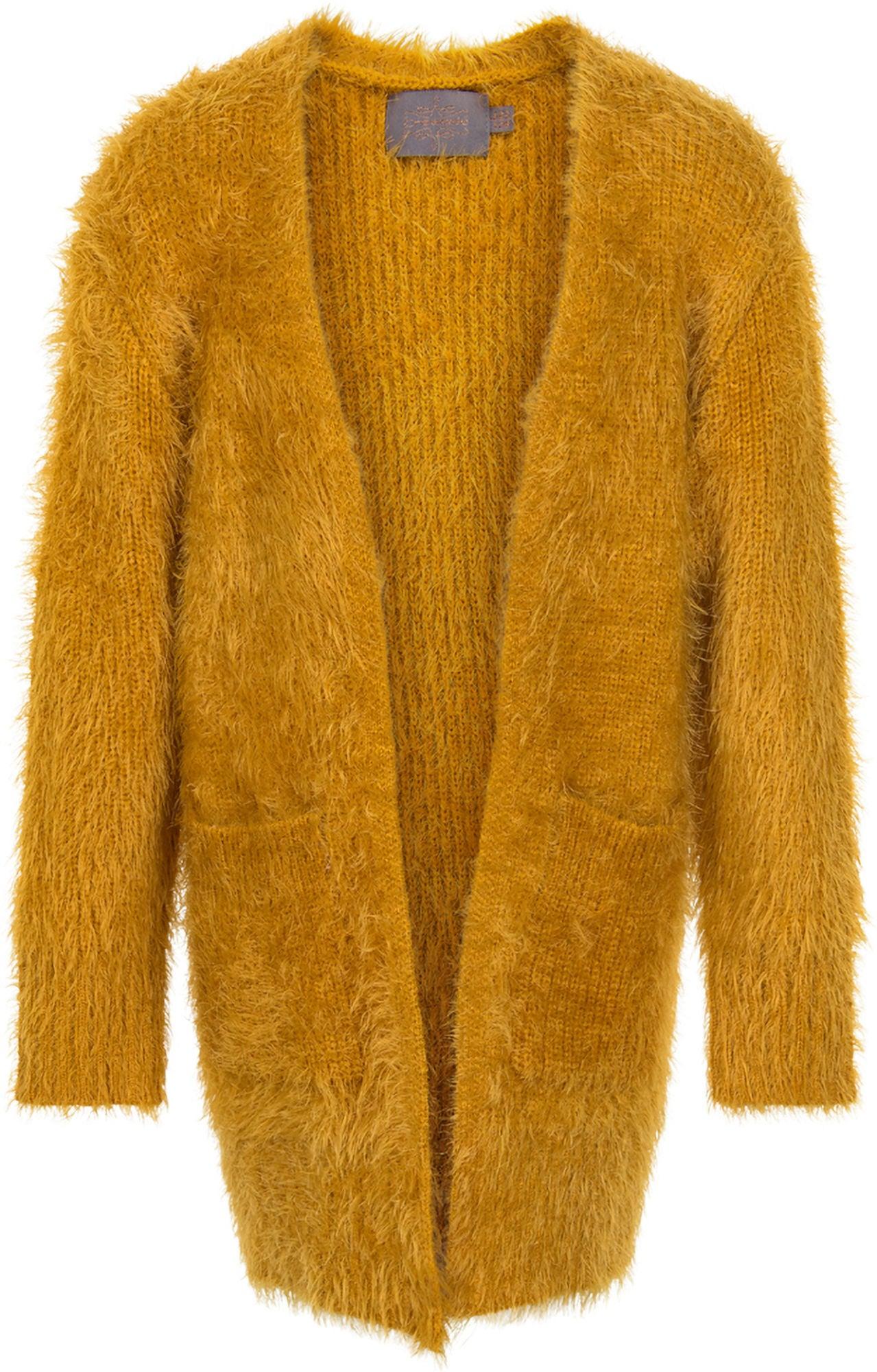 Creamie Cardigan, Harvest Gold 104-110