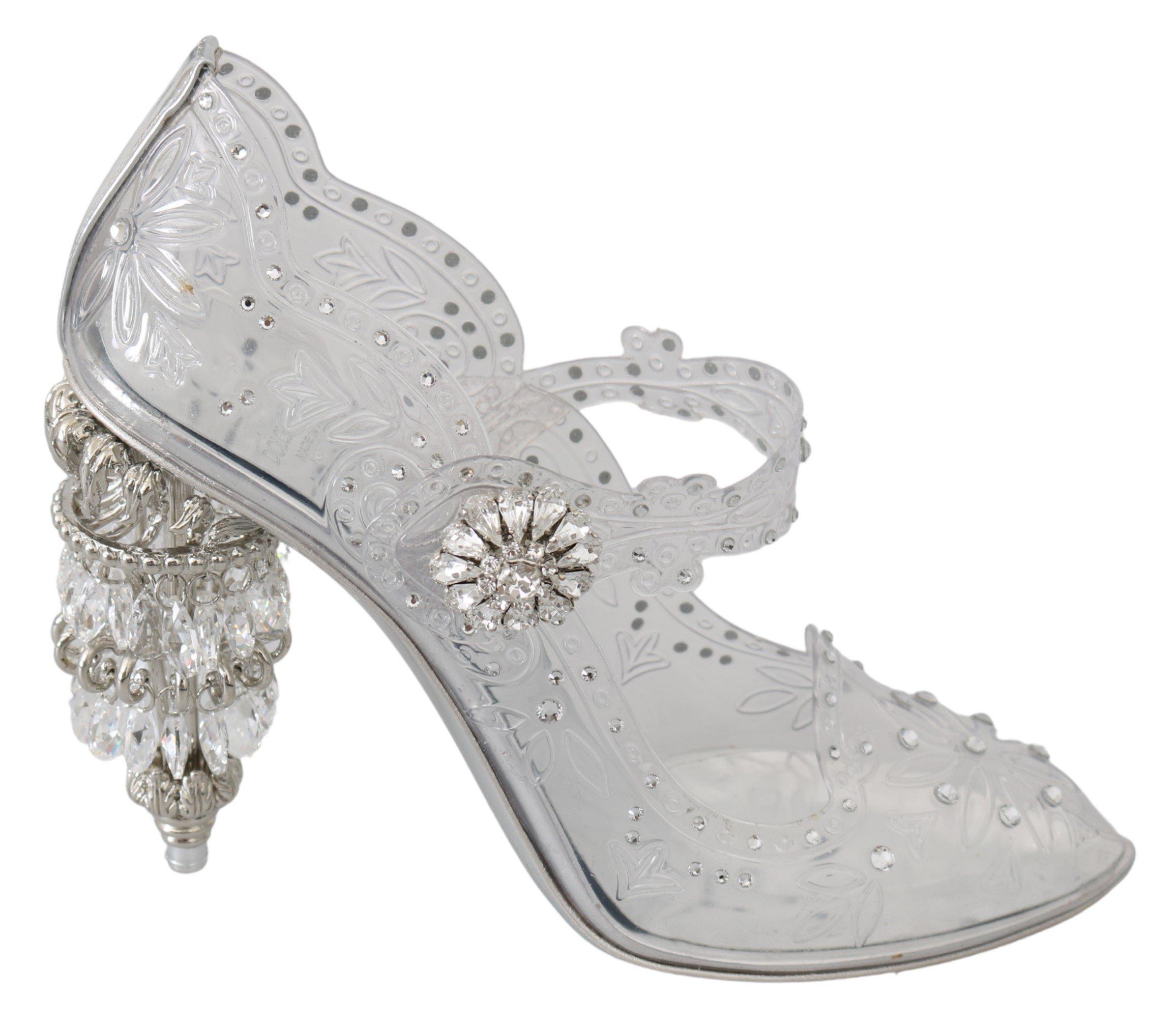 Dolce & Gabbana Women's Crystal CINDERELLA Pumps Transparent LA7524 - EU40/US9.5
