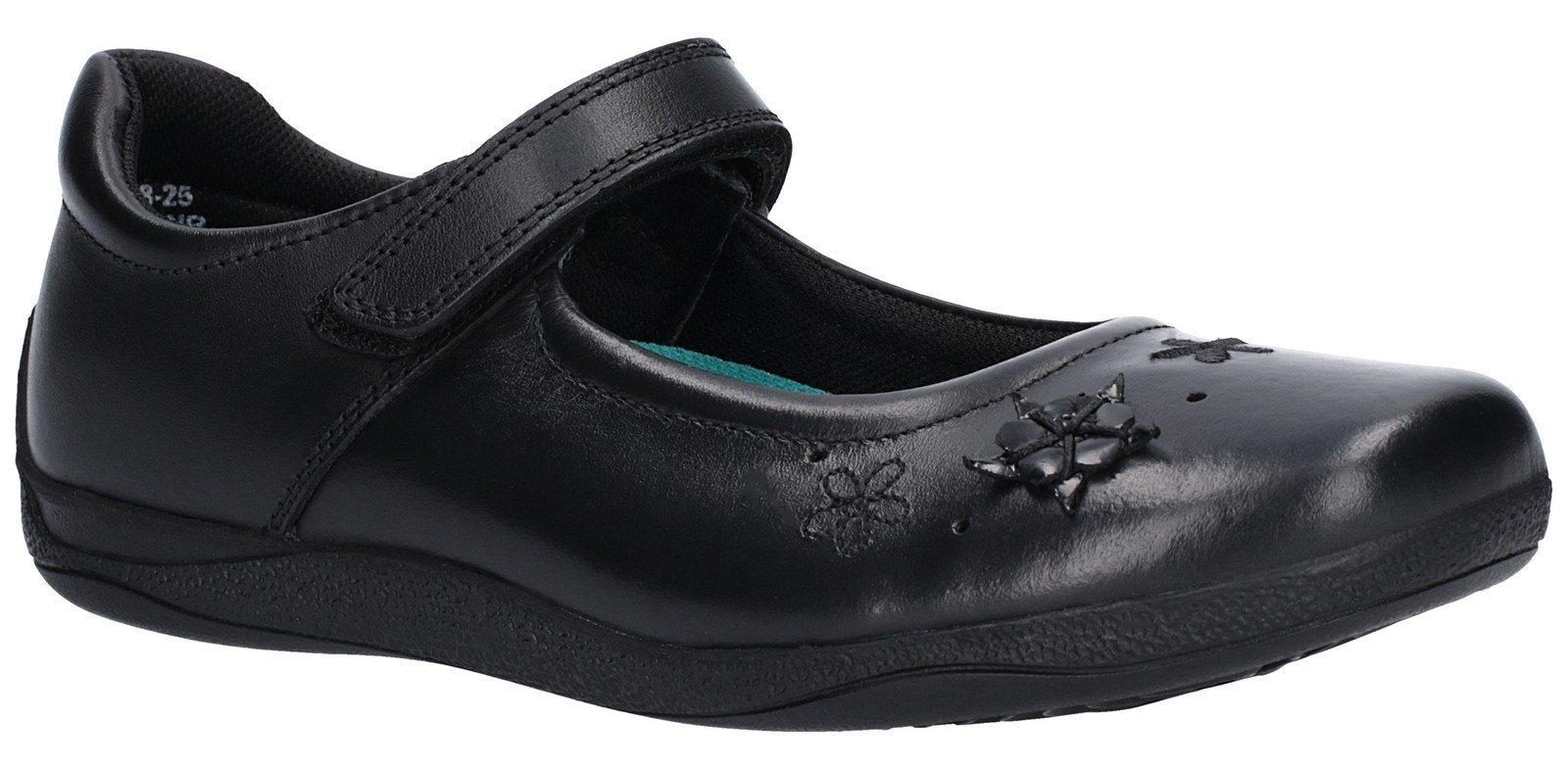 Hush Puppies Kid's Candy Junior Touch Fastening Shoe Black 27456 - Black 10 UK