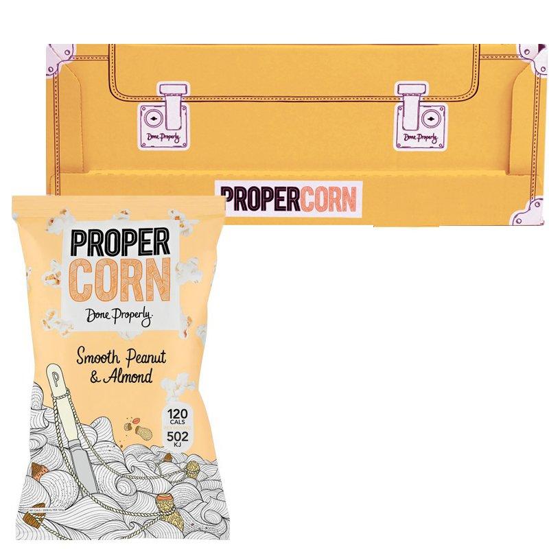 """Laatikollinen Popcornia """"Peanut & Almond"""" 12 x 90 g - 71% alennus"""