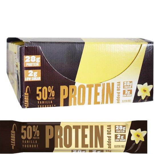 "Hel Låda Proteinbars ""Vanilla & Yoghurt"" 24 x 55g - 70% rabatt"
