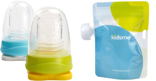Kidsme Reuseable Food Pouch, 4x180ml Inkl. Adaptor