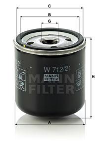Öljynsuodatin MANN-FILTER W 712/21