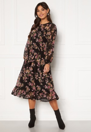 Happy Holly Marcella dress Black / Patterned 52/54