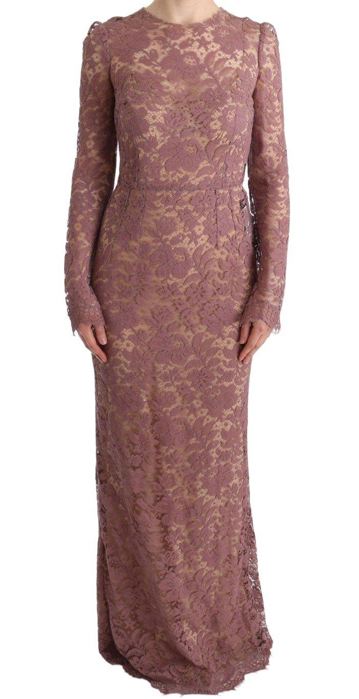 Dolce & Gabbana Women's Floral Lace Sheath Dress Pink SIG60565 - IT40 S