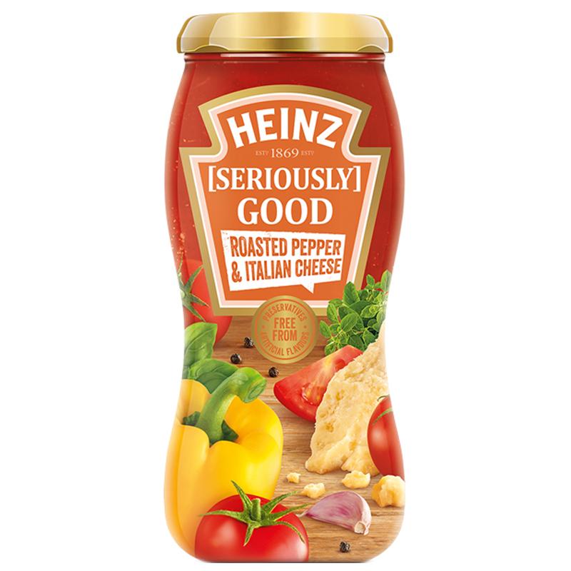 """Tomatsås """"Roasted Pepper & Italian Cheese"""" 490g - 80% rabatt"""