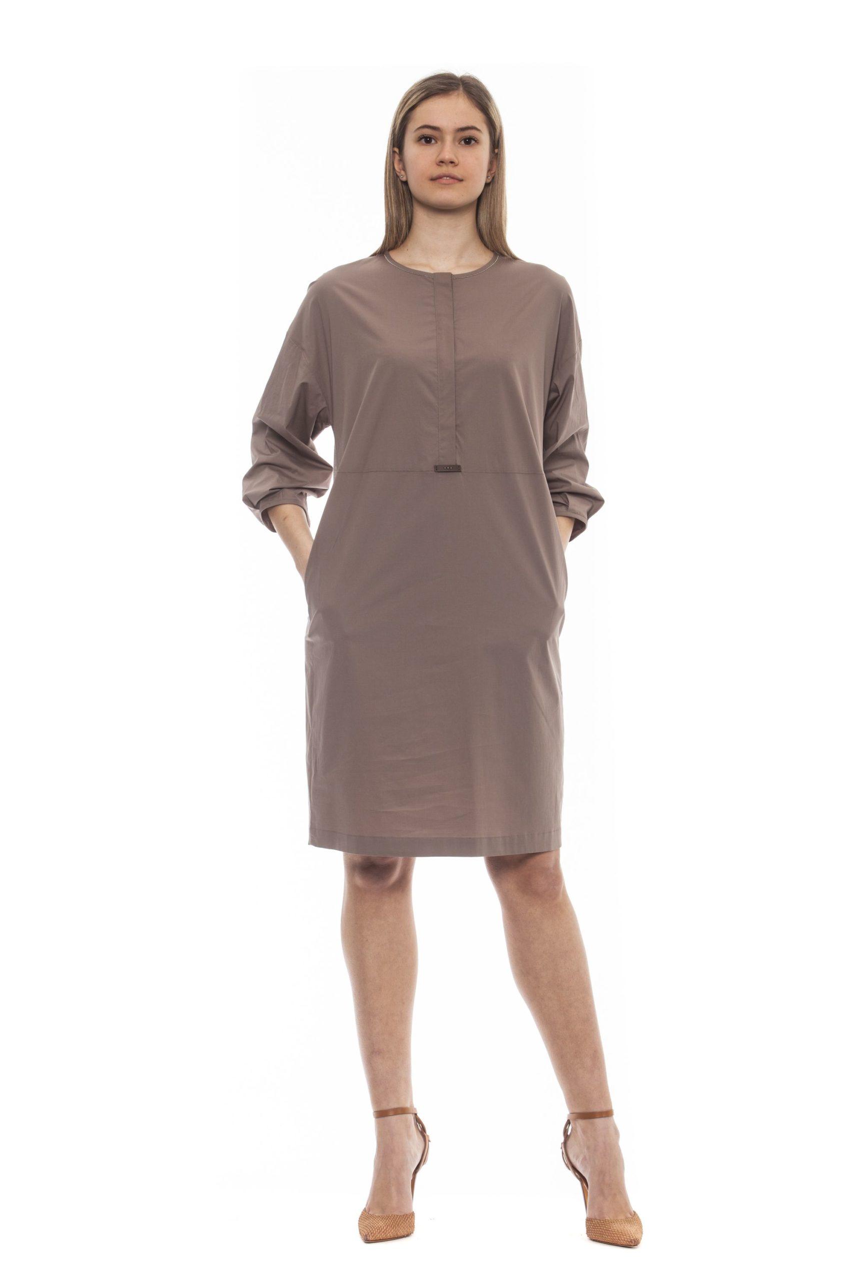 Peserico Women's Dress Beige PE1383274 - IT42   S