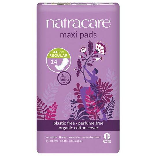 Natracare Ekologiska Bindor Maxi regular, 14 st