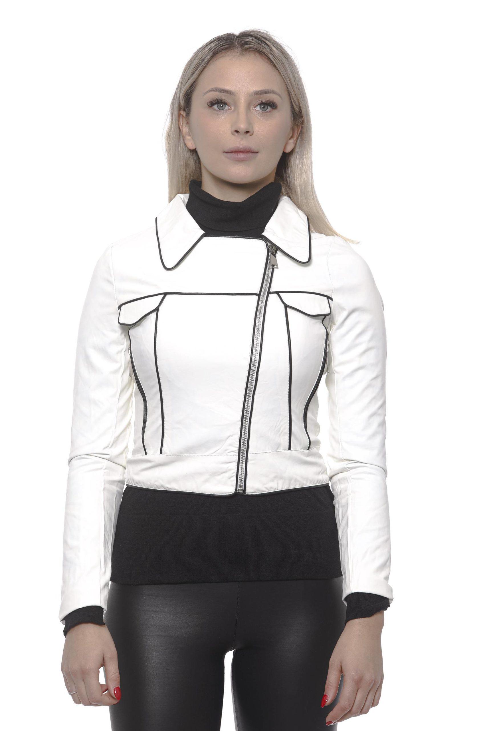 19V69 Italia Women's Bianco Jacket White 191388422 - IT42 | S