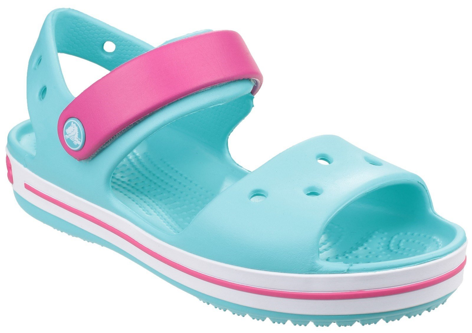 Crocs Kid's Sandal Various Colours 21077 - Pool/Candy Pink 5