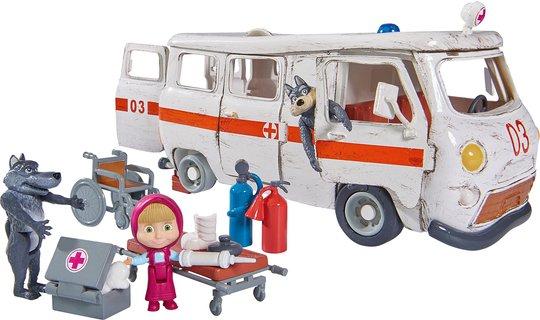 Masha og Mishka Lekesett Ambulanse og Figurer
