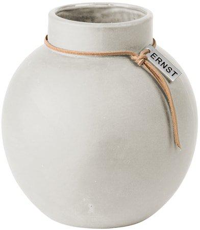 Rund Vase Steingods 14 cm