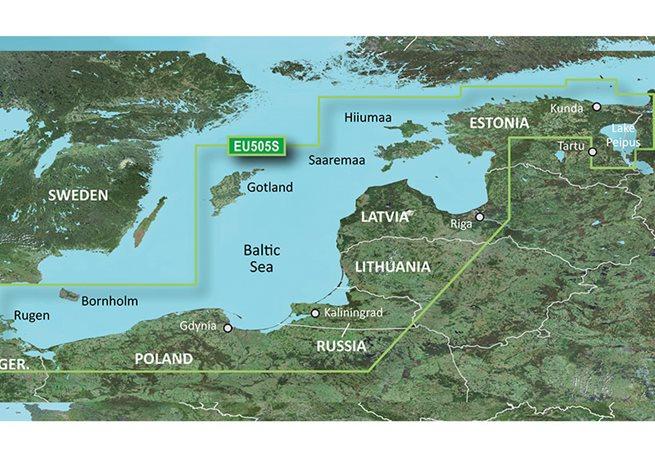 Garmin Baltic Sea, East Coast Garmin microSD™/SD™ card: VEU065R