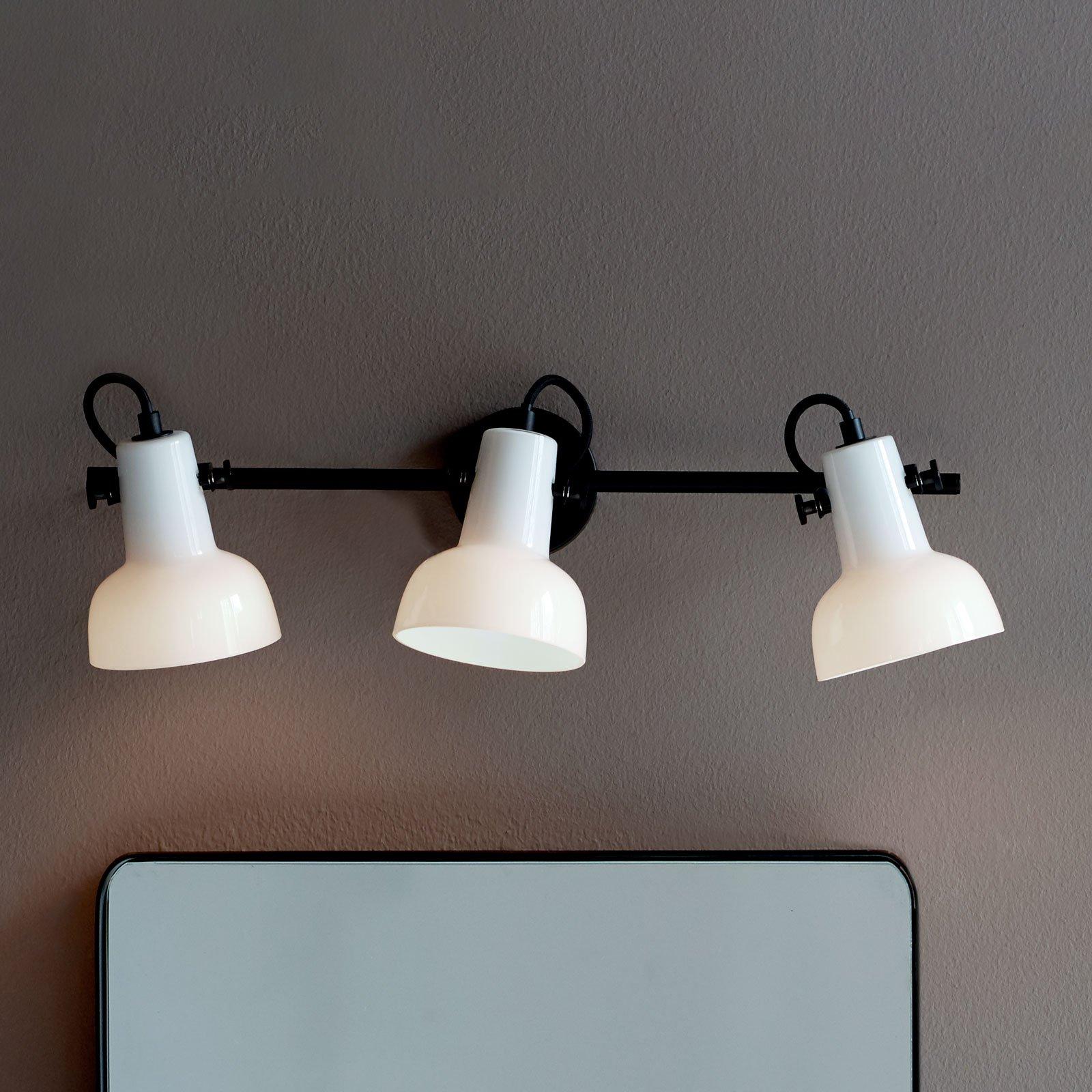 Parson veggspot i svart-hvitt, 3 lyskilder