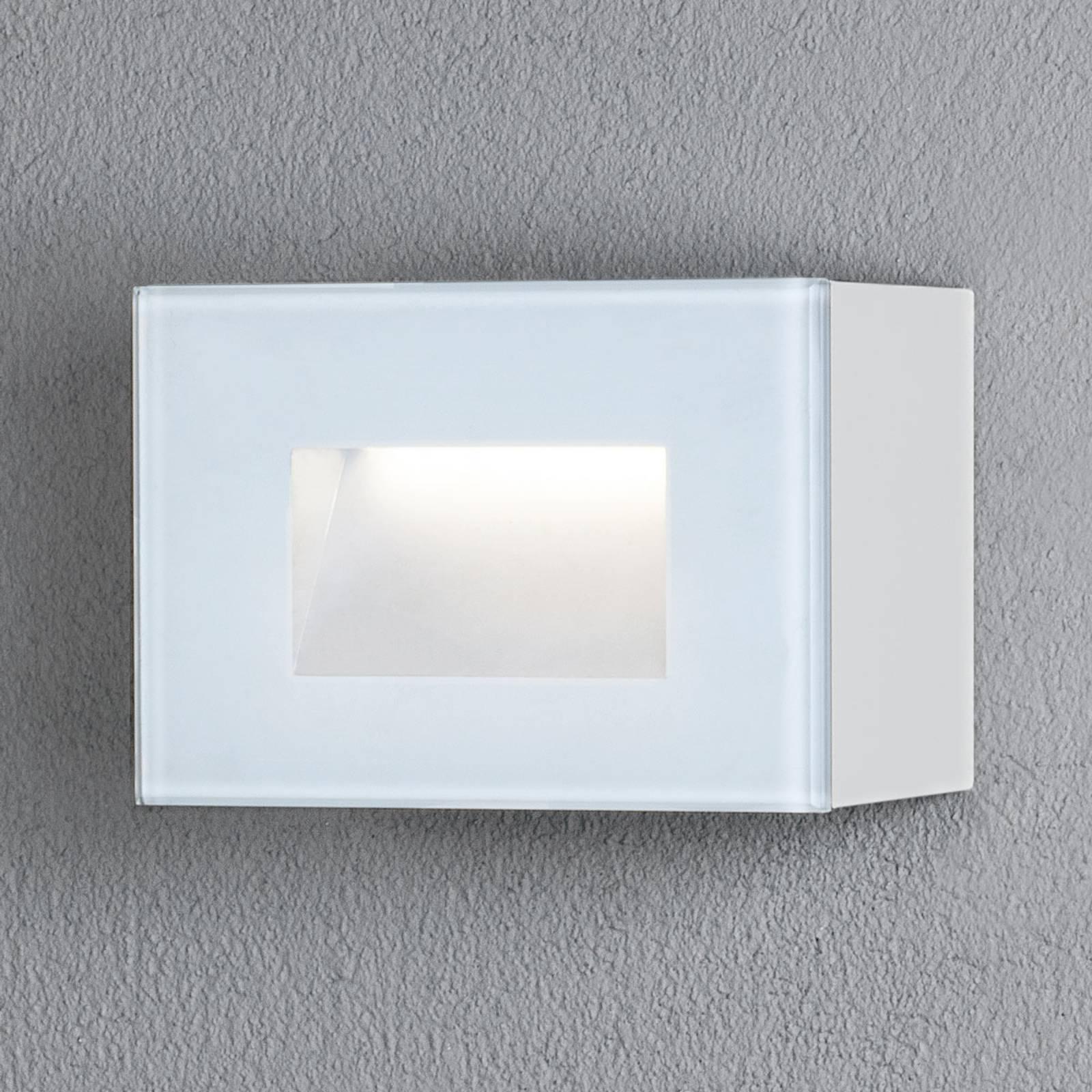 LED-ulkoseinälamppu Chieri, 12 x 8 cm, valkoinen