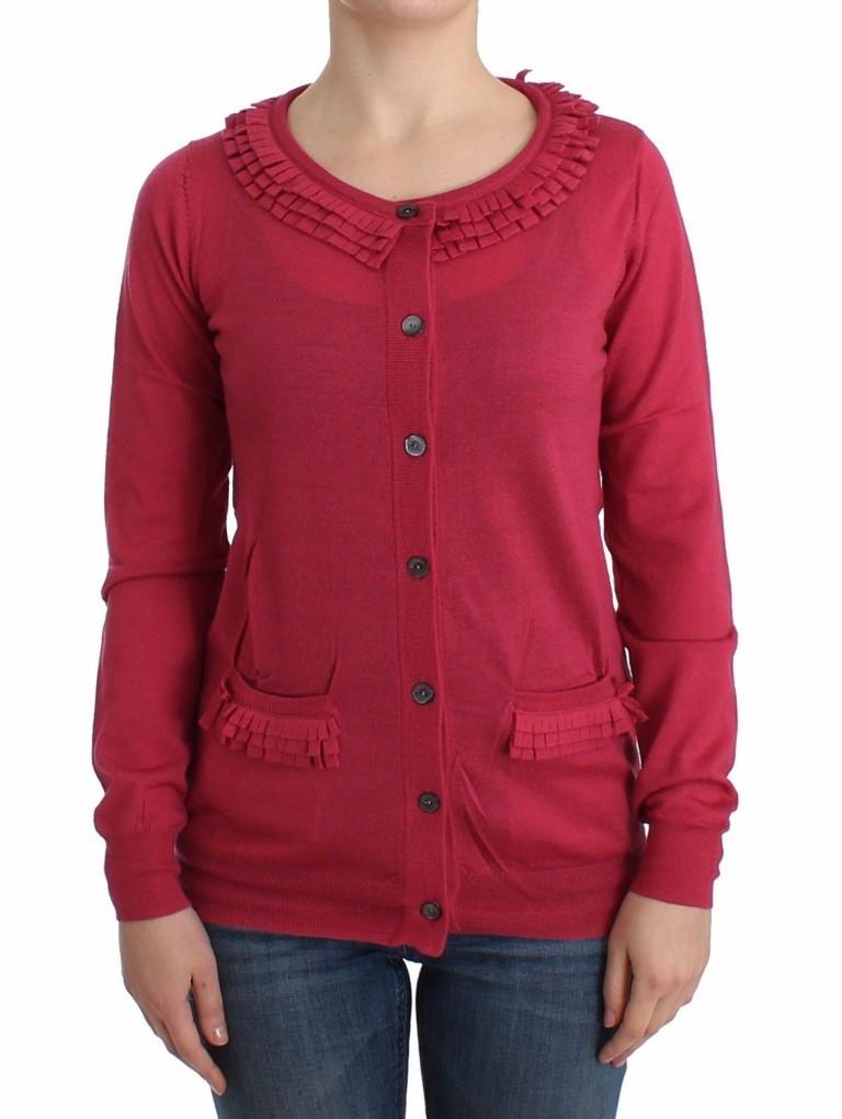 John Galliano Women's Wool Cardigan Pink SIG12074 - S