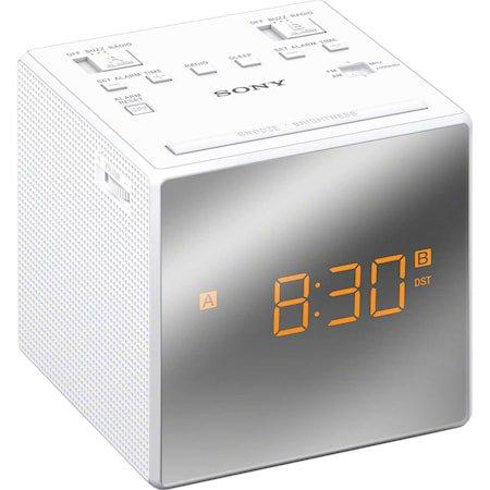 Øvrige Klokkeradio med to alarmer Hvit