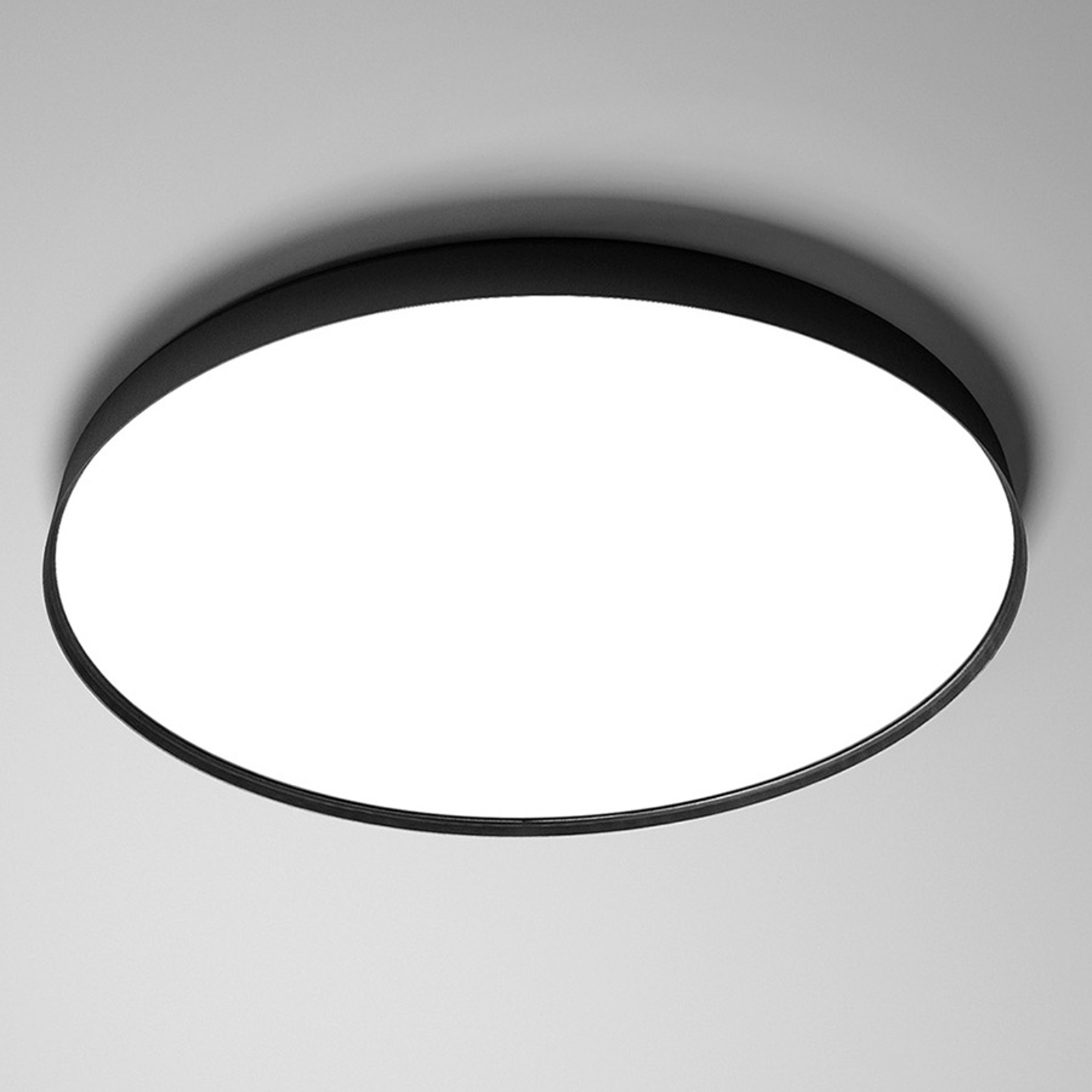 Luceplan Compendium Plate -LED-kattovalaisin musta