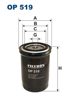 Öljynsuodatin FILTRON OP 519