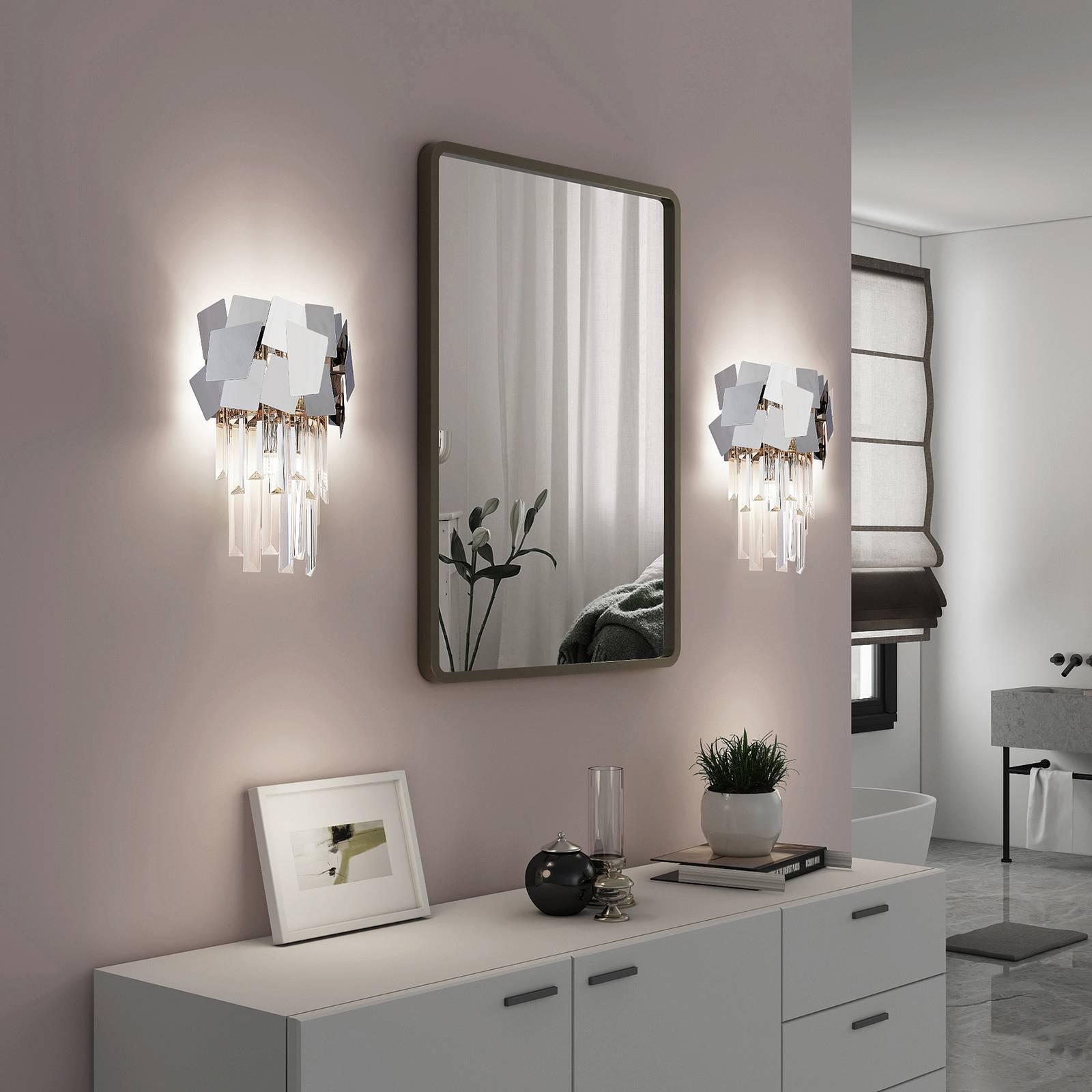 Lucande Miraia -kristalliseinävalaisin, peilipinta