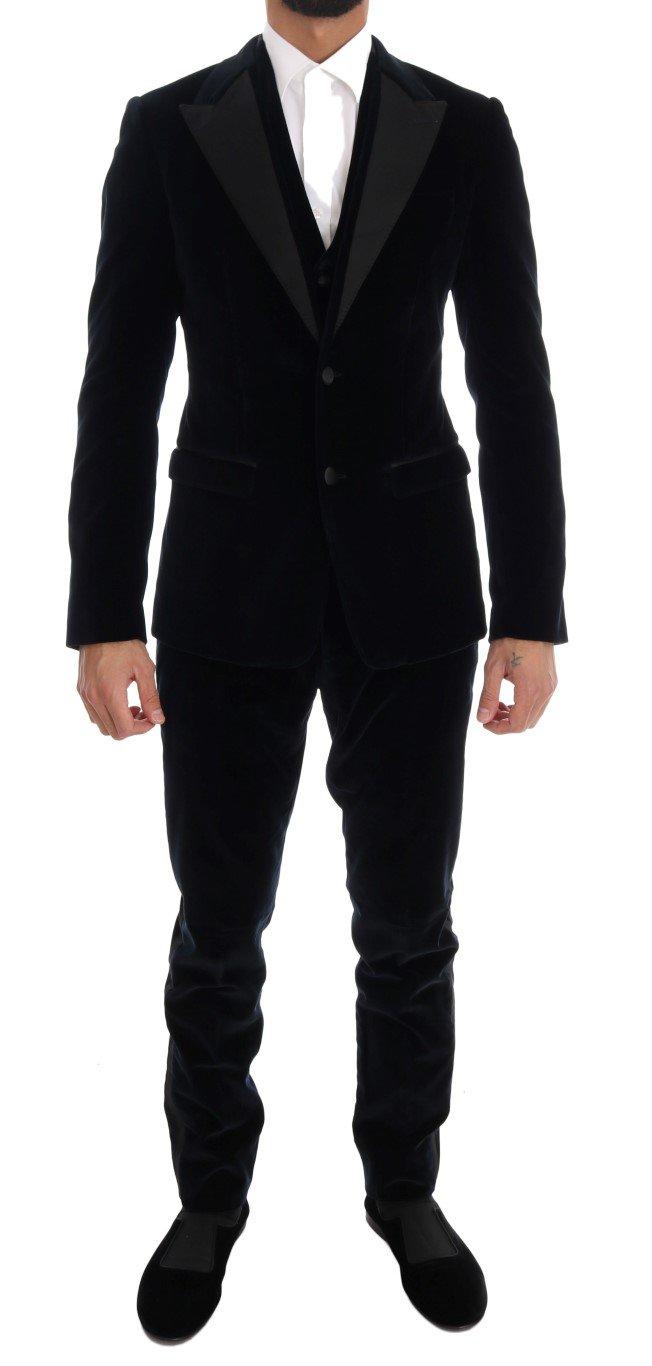 Dolce & Gabbana Men's Stretch Slim Two Button Suit Blue KOS1128 - IT46 | S