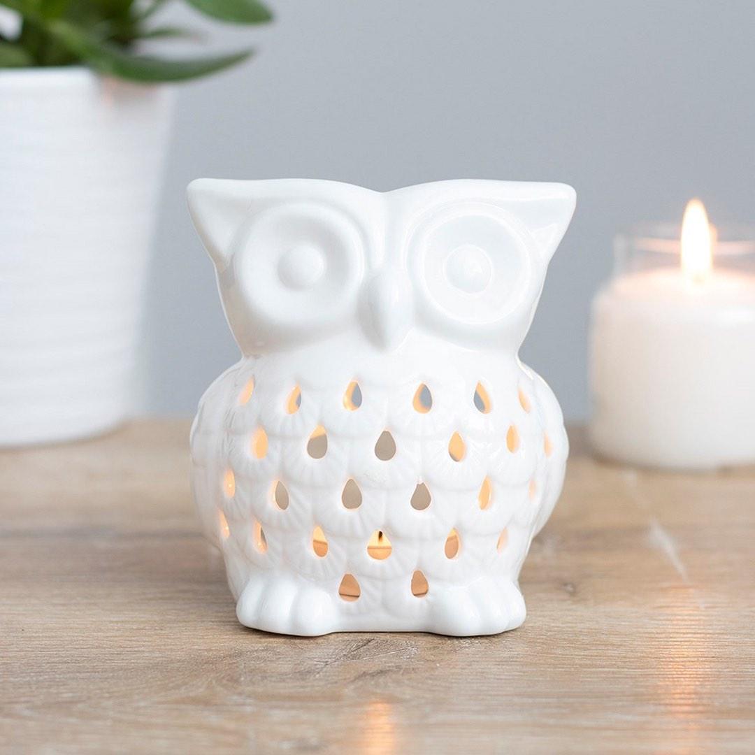 Aromalampa i keramik - Uggla Vit