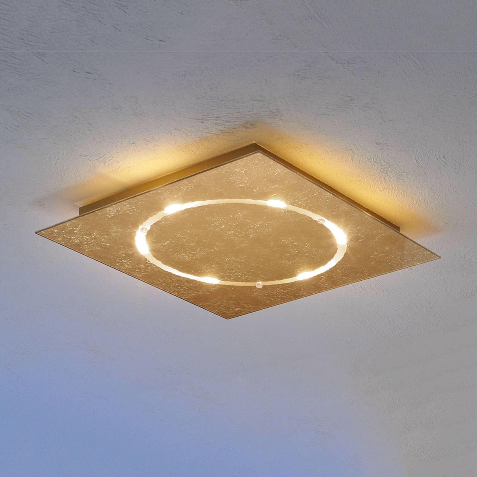 Dimbar Skyline LED-taklampe med bladgull