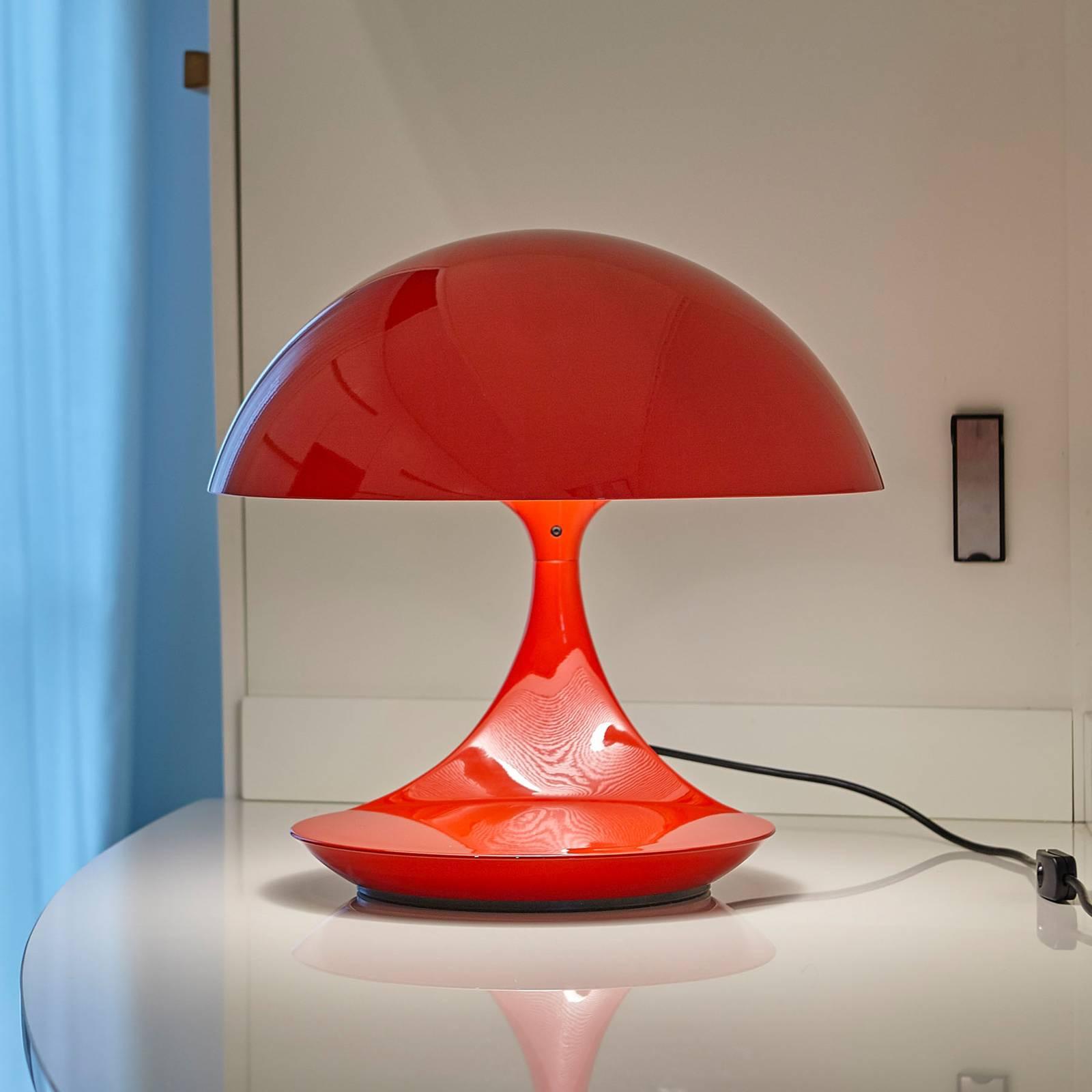 Martinelli Luce Cobra -retro-pöytälamppu, punainen