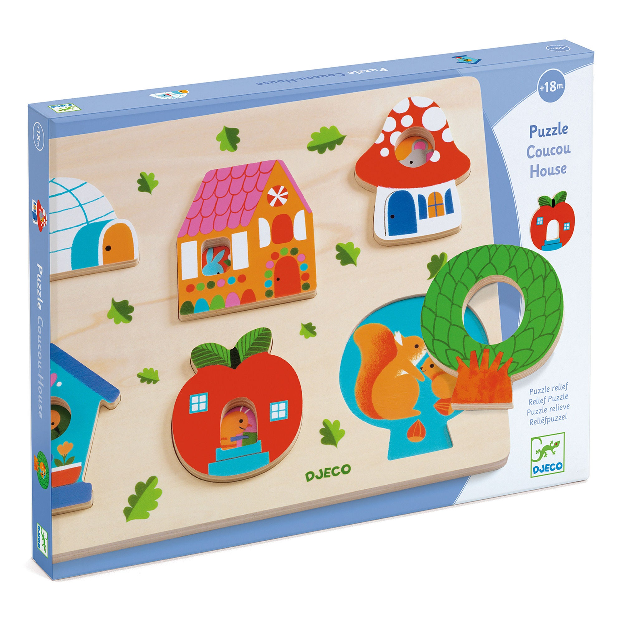 Djeco Pussel RELIEF PUZZLE - Coucou-House